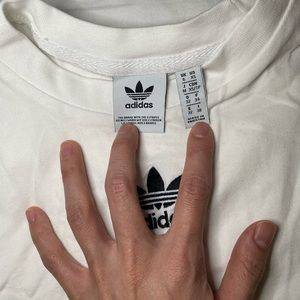 adidas Tops - Adidas Crop Tank Top in White